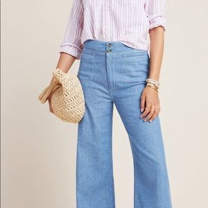 NWT Anthropologie by Pilcro  Wide-Leg Jeans